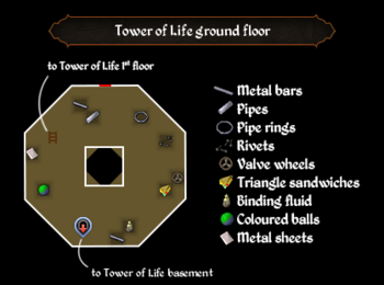 Tower of Life ground floor map