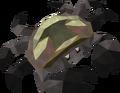 Burnt heim crab detail