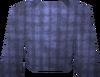 Blue robe top detail