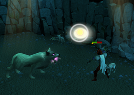 Cave Wolf matriach fight