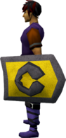 Steel kiteshield (Varrock) equipped