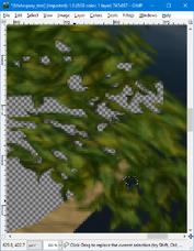GIMP - blur tool example1