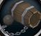 Cannonball barrel-boat detail