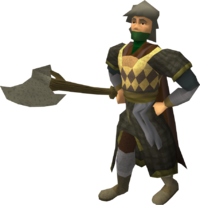 Mercenary axeman