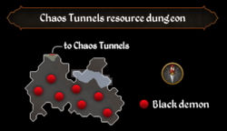 Chaos Tunnels resource dungeon map