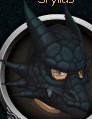 Black dragon mask chathead