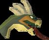Cockatrice head (stuffed) detail