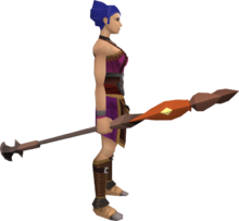 Fire staff (Dungeoneering) equipped