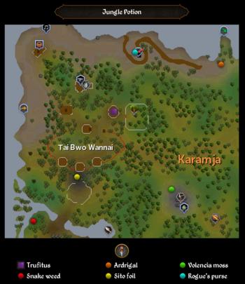 Jungle Potion map