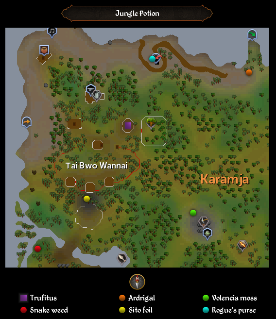 Jungle Potion map
