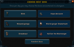 Boss Selection