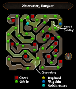 Observatory Dungeon map