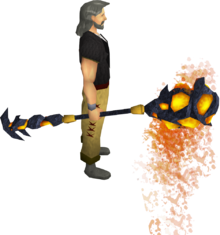 Mystic lava staff equipped