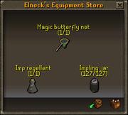 Elnock's Equipment storage