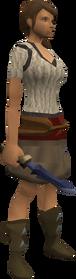 Katagon dagger equipped