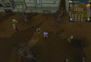 Scan clue West Ardougne south of northwestern housing area