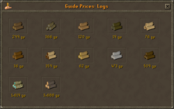 Grand Exchange Log Prices