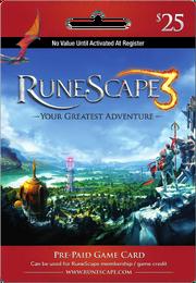 RuneScape 25 USD Prepaid Card