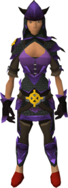 Ancient dragonhide blessed set equipped (female)