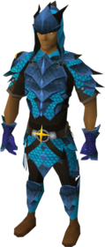 Saradomin dragonhide blessed set equipped (male)