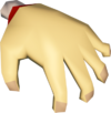 Sandy hand detail