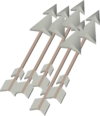 Sacred clay arrows detail