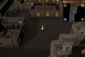 Scan clue Dorgesh-Kaan upper level outside house in north-west corner
