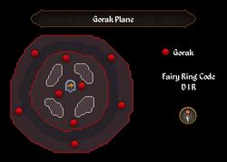 Gorak Plane map