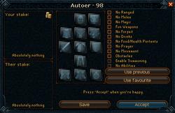 Duel Arena challenge interface