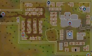 West Ardougne map