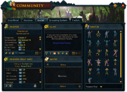 Community (Social) interface