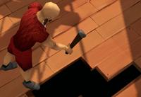 Fixing ship's hole