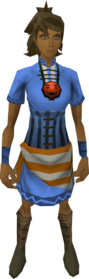 Mad necklace equipped