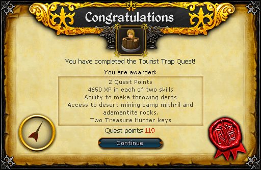The Tourist Trap reward