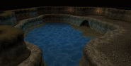 Pool inside cave in the Land of Holly and Hawthorn after using Water key