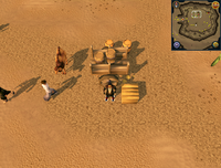 Cryptic clue Desert Mining Camp crate
