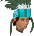 Feather headdress (charged) (stripy) chathead