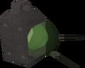 Emerald lantern (lit) detail