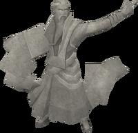 Rough-hewn magic statue