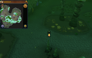 Scan clue Lumbridge Swamp Caves south of east Fishing spot