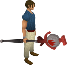 Fire talisman staff equipped