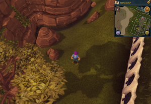 Compass clue Al Kharid west of Mage Training Arena