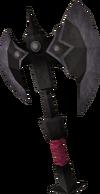 Black battleaxe detail