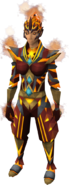 Flameheart armour equipped (female)