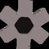 Black cog detail