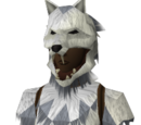 Werewolf mask (white, female)