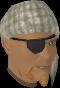 Bandana and eyepatch (white) chathead