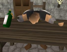 Lazy Khazard Guard sleeping