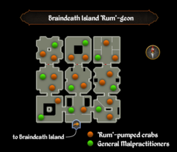 Braindeath Island 'Rum'-geon map