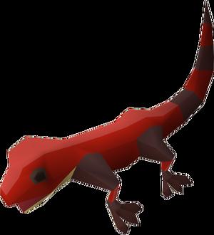 Gecko (red) pet